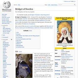 Bridget of Sweden