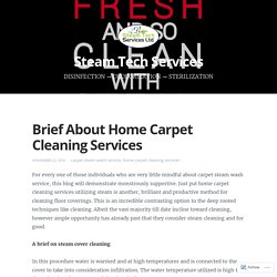 Brief About Home Carpet Cleaning Services