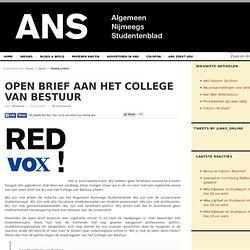Open brief aan het College van Bestuur