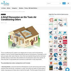 A Brief Discussion on Six Toxic Air Conditioning Odors