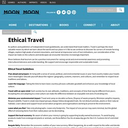 A Brief Guide to Ethical Travel | Moon Travel Guides