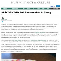 A Brief Guide To The Basic Fundamentals Of Art Therapy