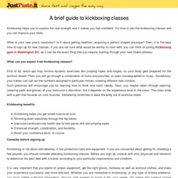 A brief guide to kickboxing classes