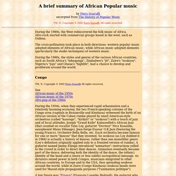 A Brief History of African Popular Music