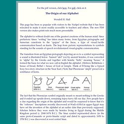 Brief History of our Alphabet by Wendell Hall