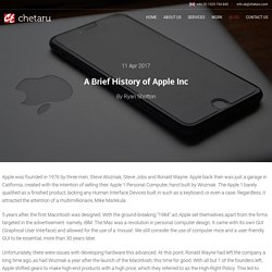 Know A Brief History of Apple Inc