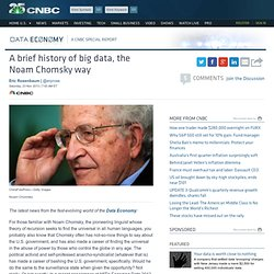 A brief history of big data, the Noam Chomsky way