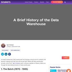History of the Data Warehouse