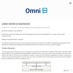 A Brief History Of Mastercoin – Omni