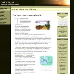 A Brief History of Orkney - The Neolithic