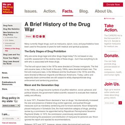 """a history on the war on drugs The pledge to wage """"relentless warfare"""" on drugs was first made in the 1930s, by a man who has been largely forgotten today the following is an excerpt from johann hari's new book, chasing the scream: the first and last days of the war on drugs."""