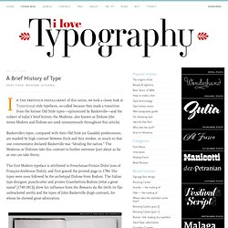 A Brief History of Type