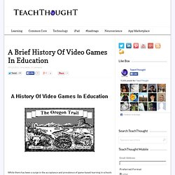 A Brief History Of Video Games In Education