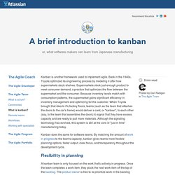 A Brief Introduction to Kanban