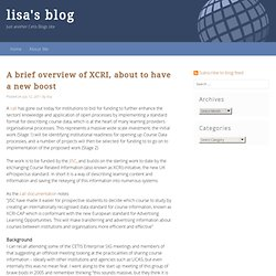 lisa's blog » A brief overview of XCRI, about to have a new boost