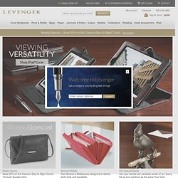 Levenger - Lap Desks, Totes, Business Card Holders, Leather Brie