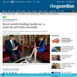 Brexit weekly briefing: buckle up – a nasty divorce looks inevitable
