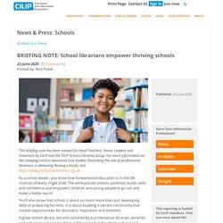 School librarians empower thriving schools