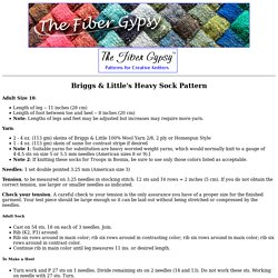 Briggs & Little's Heavy Sock Pattern