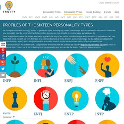 Briggs Myers' 16 Personality Types: In-Depth Profiles & Free Quiz