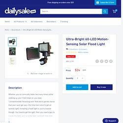 Ultra-Bright 60-LED Motion-Sensing Solar Flood Light