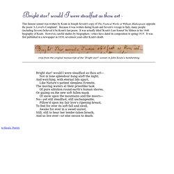 bright star would i were steadfast as thou art pdf