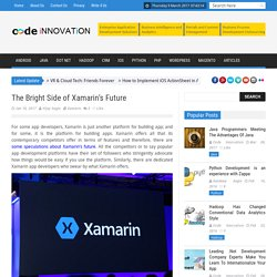 The Bright Side of Xamarin's Future