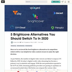 5 Brightcove Alternatives You Should Switch To In 2020