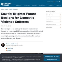 Kuwait: Brighter Future Beckons for Domestic Violence Sufferers
