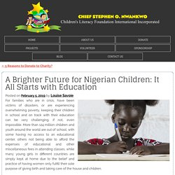 A Brighter Future for Nigerian Children: It All Starts with Education