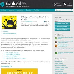 23 Brighter-Than-Sunshine Yellow Websites