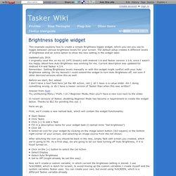 Brightness toggle widget