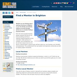 Find a Business Mentor in Brighton