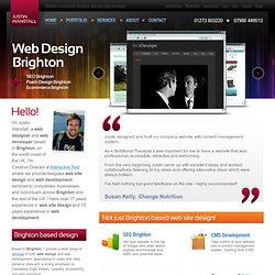 Web design Brighton - Justin Wanstall Brighton based Web Designer & Web Developer