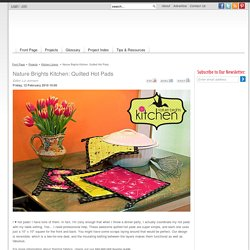 Nature Brights Kitchen: Quilted Hot Pads - Sew4Home