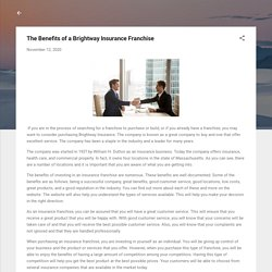 The Benefits of a Brightway Insurance Franchise