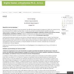 Brigitte Stanké, orthophoniste Ph.D., M.O.A.