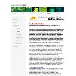 Dr. Brigitte Wolter über werteorientiertes Coaching für Manager