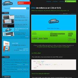 Effet de brillance en CSS et SVG - Utiliser les masques, les pseudo-éléments et les dégradés CSS