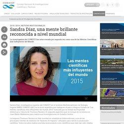 Sandra Díaz, una mente brillante reconocida a nivel mundial
