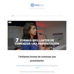 7 brillantes formas de comenzar una presentación — Blog de Prezi