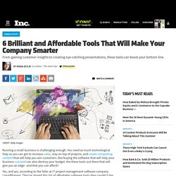 6 Brilliant and Affordable Tools That Will Make Your Company Smarter