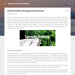 Brilliant Amenities In Managing Cannabis Banking