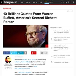 10 Brilliant Quotes From Warren Buffett, America's Second-Richest Person