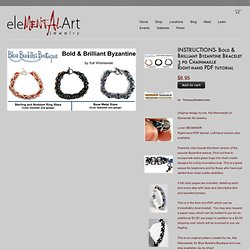 INSTRUCTIONS- Bold & Brilliant Byzantine Bracelet 3 pg Chainmaille Right-hand PDF tutorial