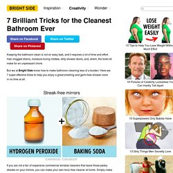 7Brilliant Tricks for the Cleanest Bathroom Ever