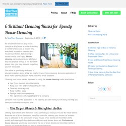 6 Brilliant Cleaning Hacks for Speedy House Cleaning