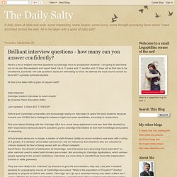 The Daily Salty: Brilliant interview questions - how many can you answer confidently?