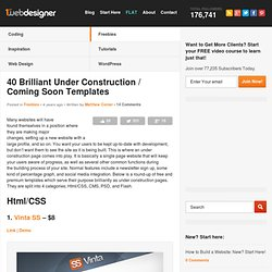 40 Brilliant Under Construction / Coming Soon templates
