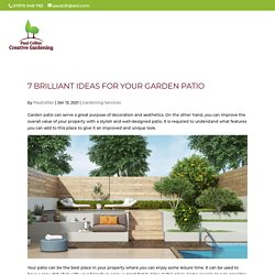 7 Brilliant Ideas for Your Garden Patio